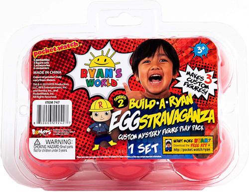 Pocket Watch Ryan's World Series 2 Build a Ryan Eggstravaganza Custom Mystery Figure Play 6-Pack Set [Red Eggs]