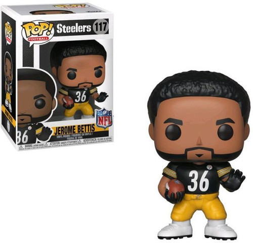 Funko NFL Pittsburgh Steelers POP! Sports Football Jerome Bettis Vinyl Figure #117 [Damaged Package]