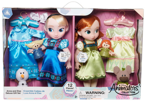 Disney Frozen 2 Animators' Collection Anna & Elsa Exclusive 15-Inch Deluxe Gift Set Doll 2-Pack
