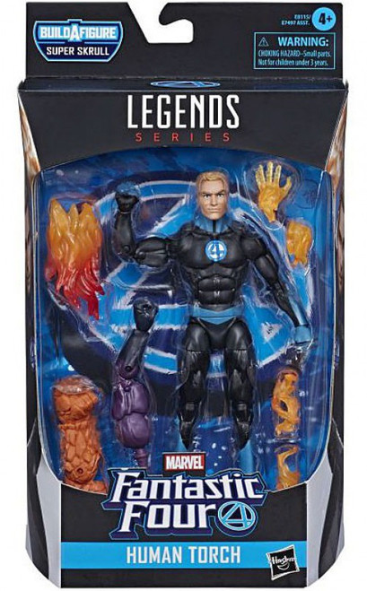 Fantastic Four Marvel Legends Super Skrull Series Human Torch Action Figure