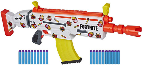 NERF Fortnite AR-DURRR Burger Exclusive Dart Blaster Toy
