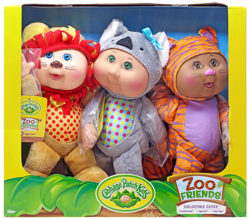 Cabbage Patch Kids Cuties Zoo Friends 9-Inch Plush 3-Pack