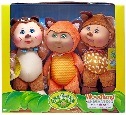 Cabbage Patch Kids Cuties Woodland Friends 9-Inch Plush 3-Pack
