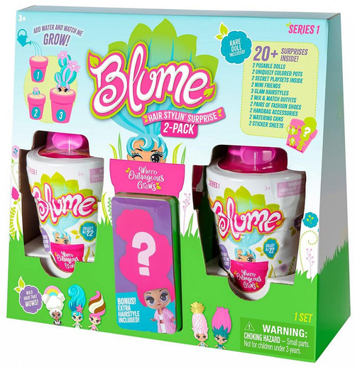 Blume Series 1 Hair Stylin' Surprise Exclusive Mystery 2-Pack [BONUS Extra Hairstyle!]