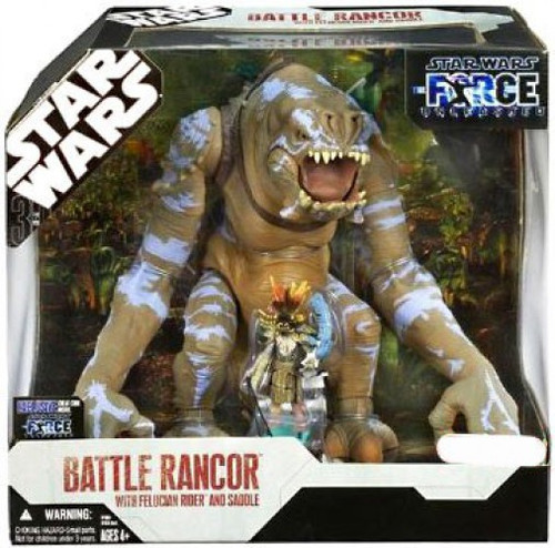 Star Wars Force Unleashed 2008 Battle Rancor with Felucian Rider & Saddle Exclusive Action Figure Set [Damaged Package]