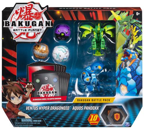 Bakugan Battle Planet Battle Brawlers Ventus Hyper Dragonoid & Aquos Pandoxx Battle Pack