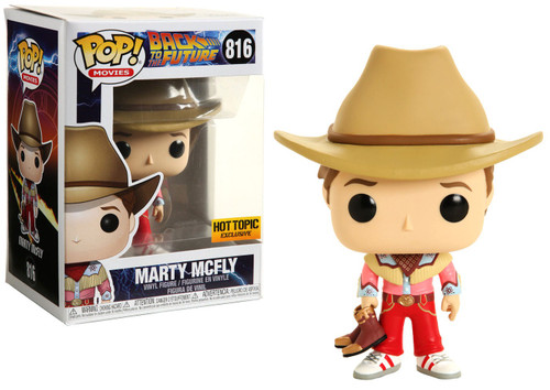 Funko Back to the Future III POP! Movies Marty McFly Exclusive Vinyl Figure #816 [Cowboy]