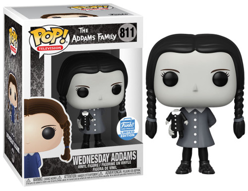 Funko The Addams Family POP! Movies Wednesday Addams Exclusive Vinyl Figure #811 [Black & White]
