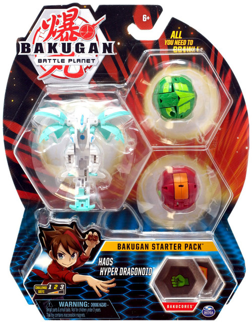 Bakugan Battle Planet Starter Pack Haos Hyper Dragonoid 3-Figure Set
