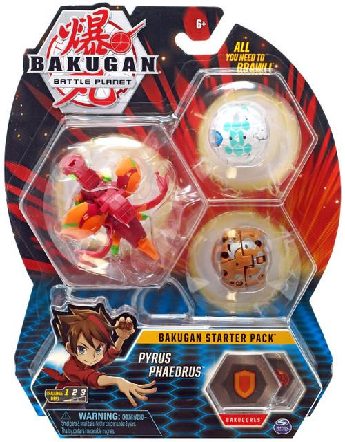 Bakugan Battle Planet Starter Pack Pyrus Pyravian 3-Figure Set