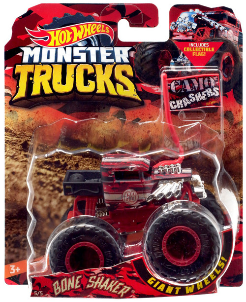 Hot Wheels Monster Trucks Bone Shaker Diecast Car [Camo Crashers]