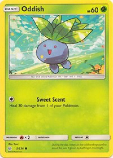 Pokemon Trading Card Game Cosmic Eclipse Common Oddish #2