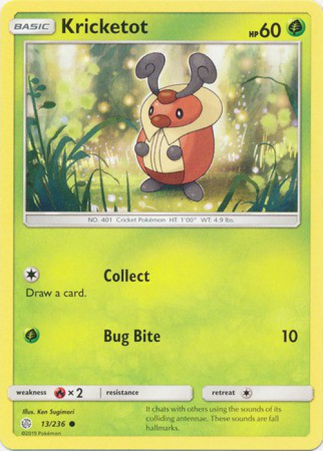 Pokemon Trading Card Game Cosmic Eclipse Common Kricketot #13