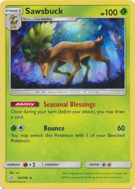 Pokemon Trading Card Game Cosmic Eclipse Rare Holo Sawsbuck #16