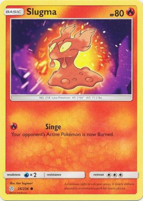 Pokemon Trading Card Game Cosmic Eclipse Common Slugma #26
