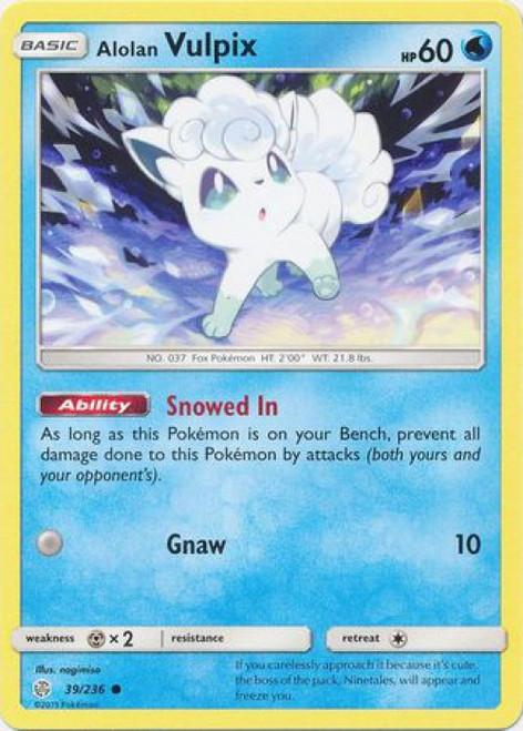 Pokemon Trading Card Game Cosmic Eclipse Common Alolan Vulpix #39
