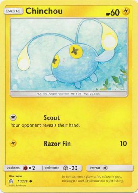 Pokemon Trading Card Game Cosmic Eclipse Common Chinchou #71
