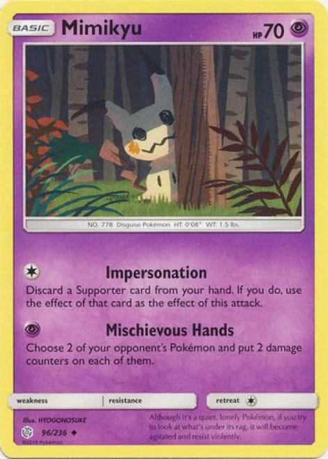 Pokemon Trading Card Game Cosmic Eclipse Uncommon Mimikyu #96