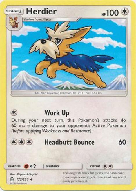 Pokemon Trading Card Game Cosmic Eclipse Uncommon Herdier #175
