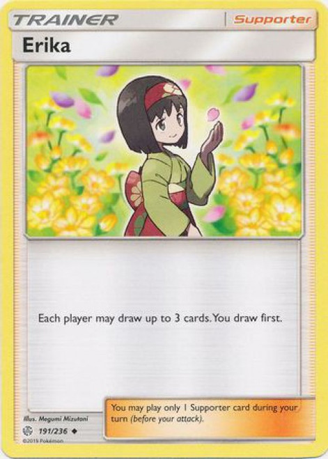 Pokemon Trading Card Game Cosmic Eclipse Uncommon Erika #191