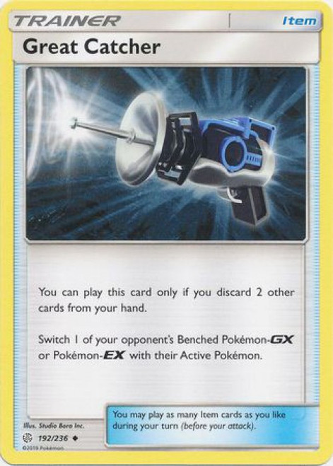 Pokemon Trading Card Game Cosmic Eclipse Uncommon Great Catcher #192
