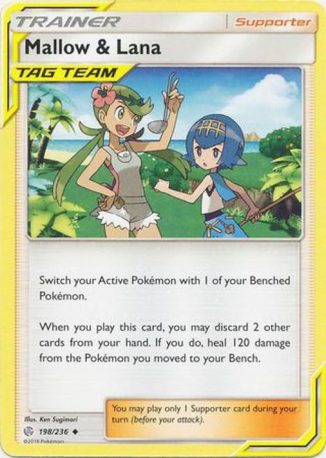 Pokemon Trading Card Game Cosmic Eclipse Uncommon Mallow & Lana #198