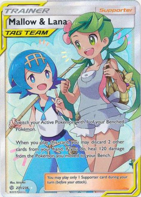 Pokemon Trading Card Game Cosmic Eclipse Ultra Rare Mallow & Lana #231