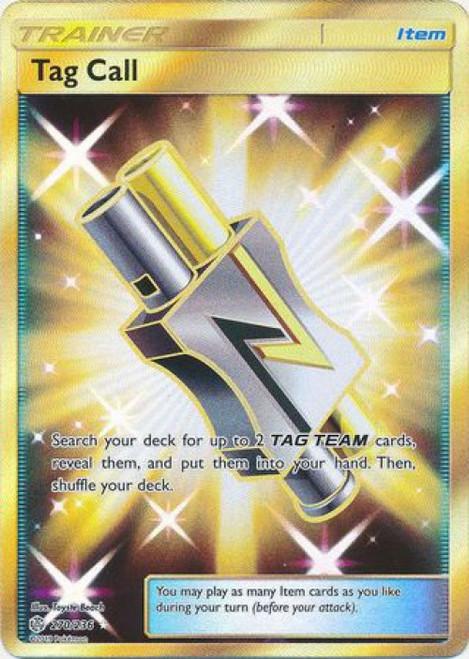 Pokemon Trading Card Game Cosmic Eclipse Secret Rare Tag Call #270