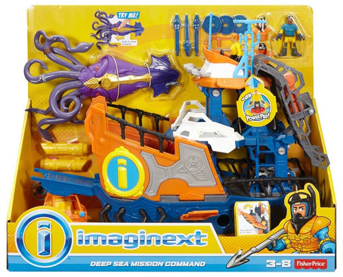 Fisher Price Imaginext Deep Sea Mission Command Playset