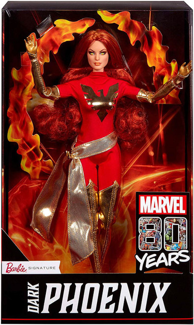 Marvel 80th Anniversary Barbie Signature Dark Phoenix Exclusive Doll