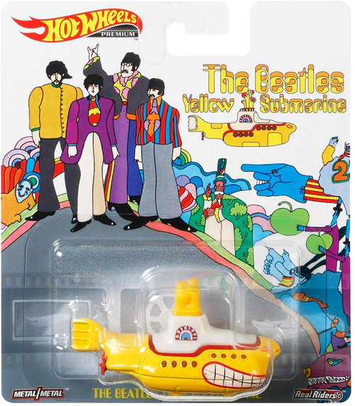 Hot Wheels Premium The Beatles Yellow Submarine Diecast Car