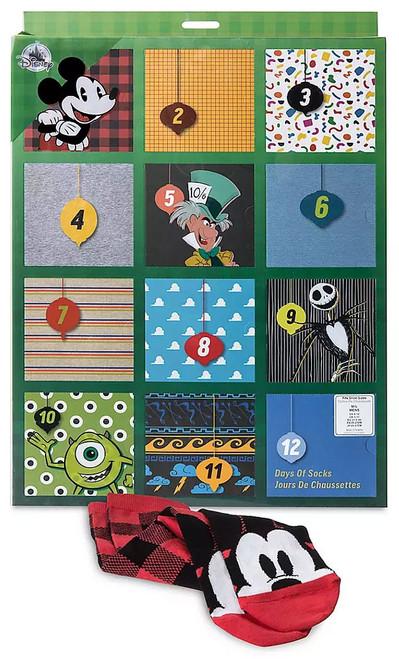 Disney / Pixar 2019 Holiday Sock Set for Men Exclusive Advent Calendar [12-Pack, Large, US 6 - 12]