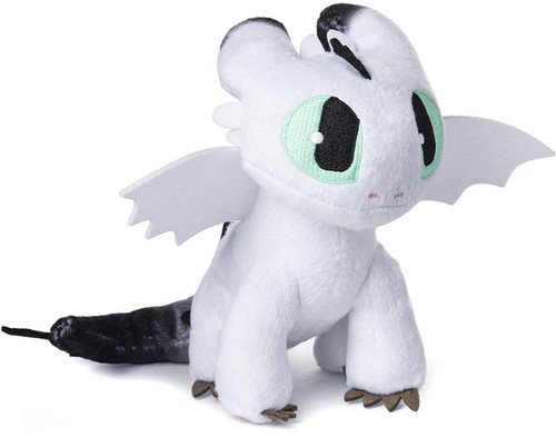 How to Train Your Dragon The Hidden World Nightlight 7-Inch Plush [White with Black Tail]