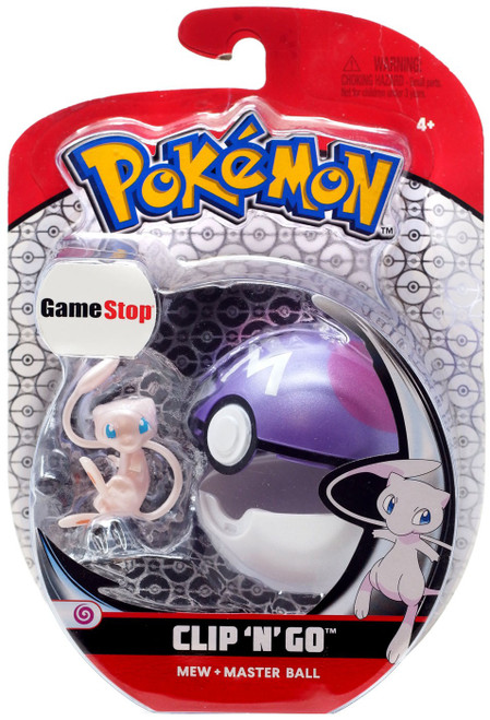 Pokemon Clip 'N' Go Mew & Master Ball Exclusive Figure Set