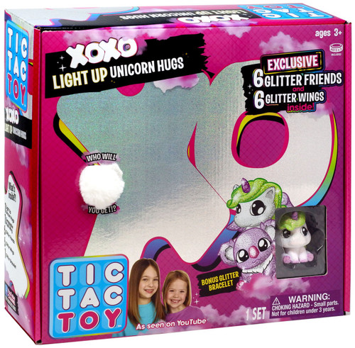 Tic Tac Toy XOXO Light Up Unicorn Hugs Mystery Set [White]