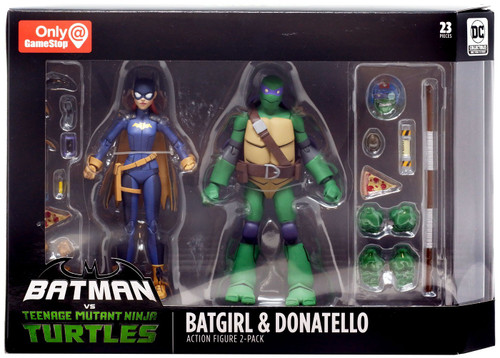 DC Teenage Mutant Ninja Turtles Batman vs TMNT Batgirl & Donatello Exclusive Action Figure 2-Pack