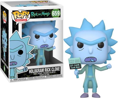 Funko Rick & Morty Pop! Animation Hologram Rick Clone Vinyl Figure