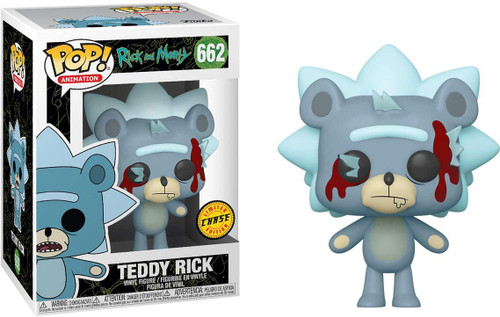 Funko Rick & Morty Pop! Animation Teddy Rick Vinyl Figure #662 [Bloodied, Chase Version]