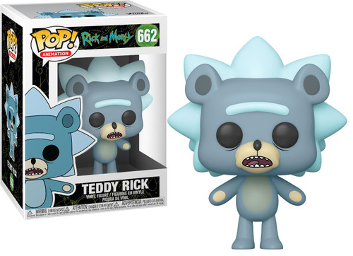 Funko Rick & Morty Pop! Animation Teddy Rick Vinyl Figure [Regular Version, Clean]
