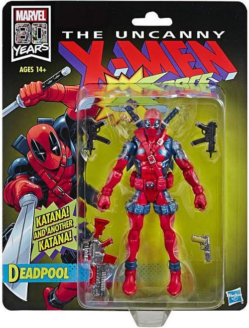 The Uncanny X-Men Marvel Legends Vintage Deadpool Action Figure [X-Force] (Pre-Order ships November)