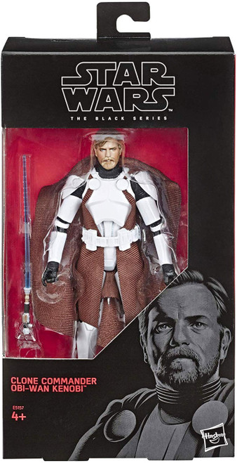 Star Wars Black Series Clone Commander Obi-Wan Kenobi Exclusive Action Figure