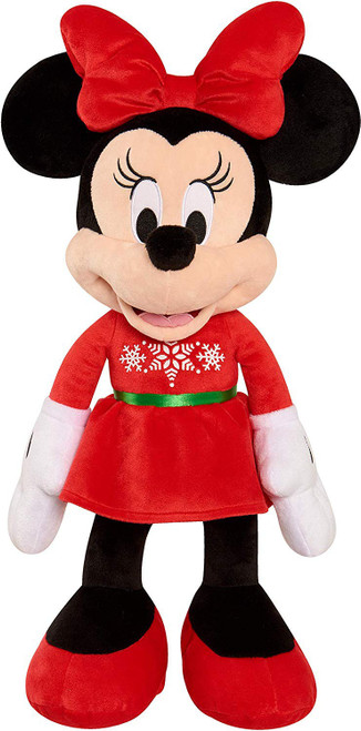 Disney 2019 Holiday Minnie Mouse Exclusive 22-Inch Plush [Red Dress, Green Belt]