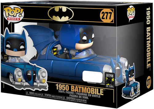 Funko DC Batman 80th POP! Rides 1950 Batmobile Exclusive Vinyl Figure [Blue]