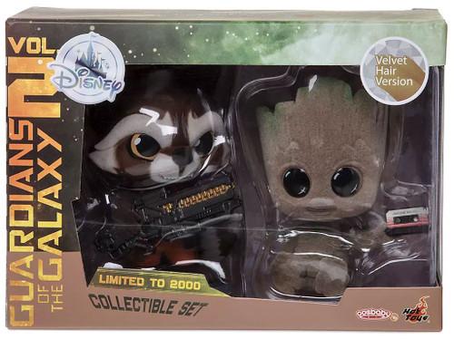 Disney Marvel Guardians of the Galaxy Vol. 2 Rocket & Groot Exclusive Bobble Head 2-Pack [Velvet Hair Version]