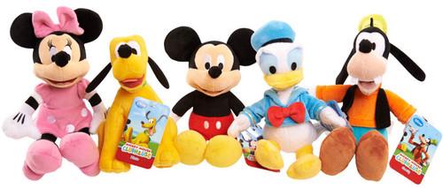 Disney Mickey, Minnie, Pluto, Donald & Goofy 10-Inch Plush 5-Pack