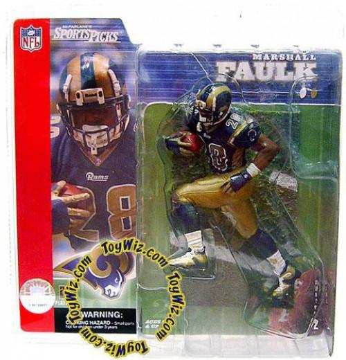 McFarlane Toys NFL St. Louis Rams Sports Picks Series 2 Marshall Faulk Action Figure [Blue Jersey]