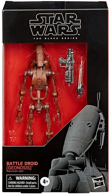 Star Wars Attack of the Clones Black Series Wave 4 Battle Droid Action Figure [2020 Version]