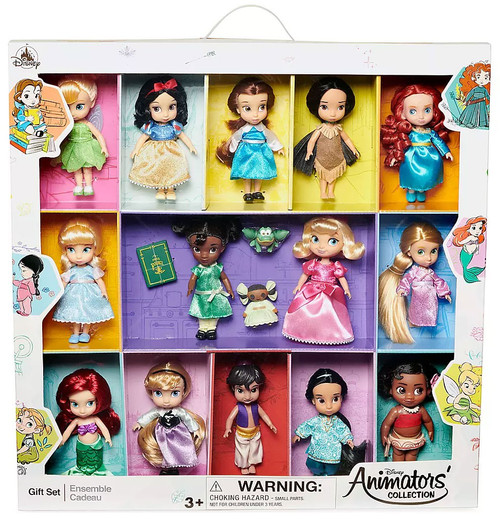 Disney 2019 Animators Collection Exclusive 14-Piece Mini Doll Gift Set
