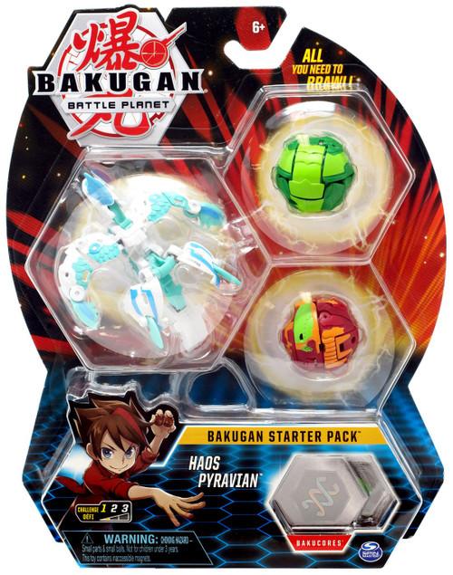 Bakugan Battle Planet Starter Pack Haos Pyravian 3-Figure Set