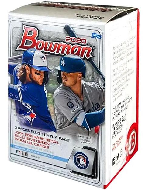 MLB Topps 2020 Bowman Baseball Trading Card BLASTER Box [5 Packs + 1 Extra Pack]